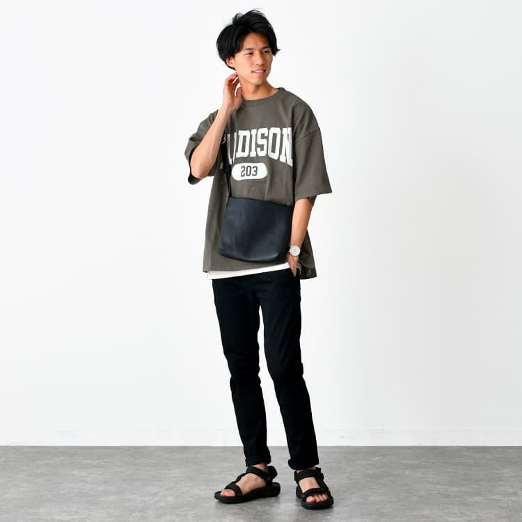 【OUTLET/返品交換不可】ヘビーウェイト カレッジプリントTシャツ(MADISON), , large