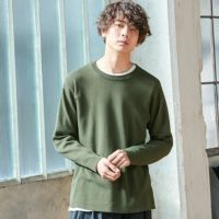 【OUTLET/返品交換不可】テックリブ長袖春ニットセーター, , small