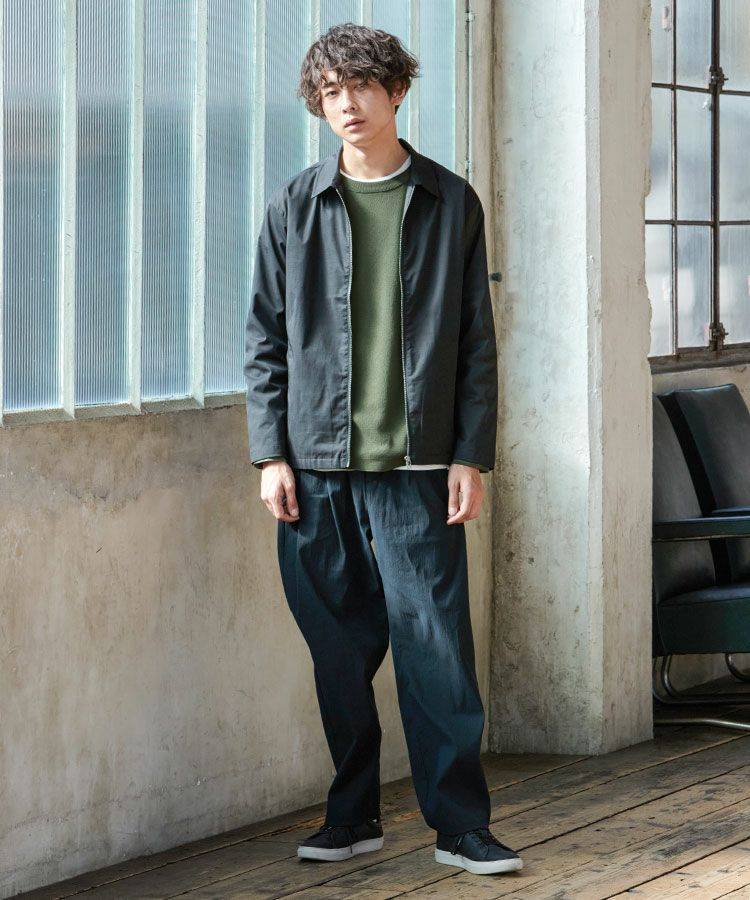 【OUTLET/返品交換不可】テックリブ長袖春ニットセーター, , large